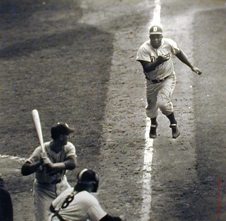 Jackie Robinson -- the steal in the World Series; Rachel Robinson and Yogi Berra still argue over whether he was safe or out