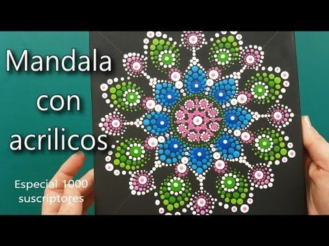 Como pintar mandalas con acrilicos-How to paint mandalas with acrylics - YouTube