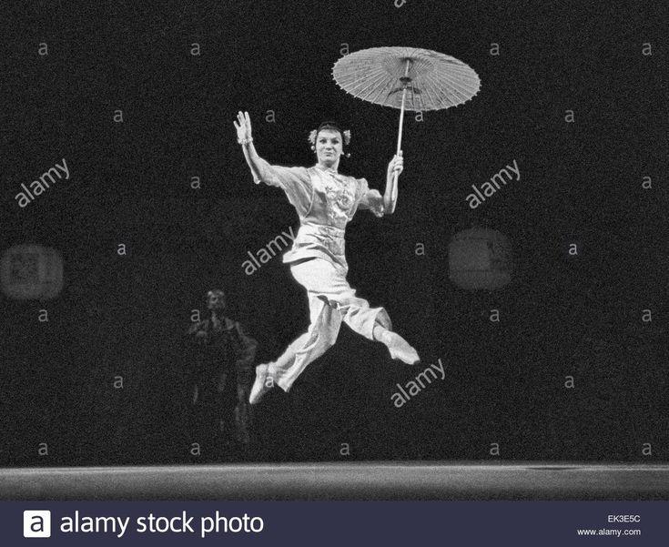 "Moscow. USSR. Ballet dancer Olga Lepeshinskaya performing in ballet ""The Red Poppy"" staged in the Bolshoi Theatre."