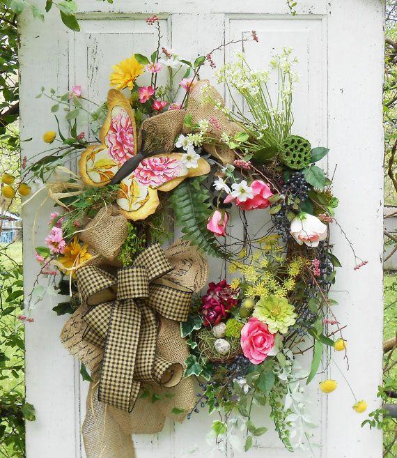 25+ unique Spring door wreaths ideas on Pinterest | Letter ...