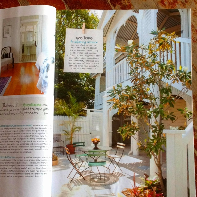From Aust. Home Beautiful magazine. Love the courtyard at the bottom of the old queenslander stairs.