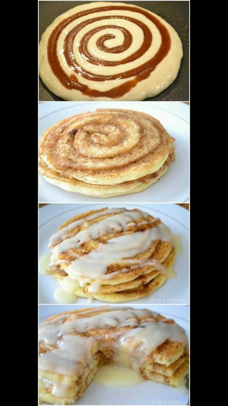 Will try using this ( link in comments) pancake recipe for pancakes, butter, sweetener, and cinnamon for the swirl, and butter, sweetener, vanilla, and possibly some whipping cream for the icing-S