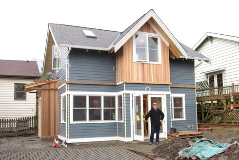 Backyard cottage construction modern farmhouse cottage for Backyard cottage seattle