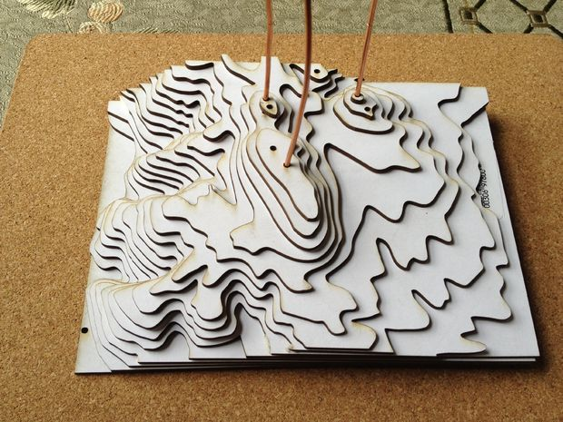 Picture of Making a relief model of Edgewood Park