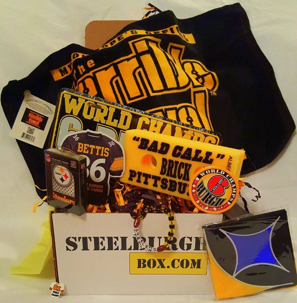 Pittsburgh Steelers Merchandise Box Subscription Plans : WWW.STEELBURGHBOX.COM