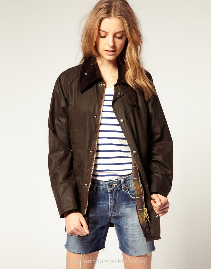 Ladies Barbour Classic Beadnell Waxed JacketOlive Ladies Wax Coats