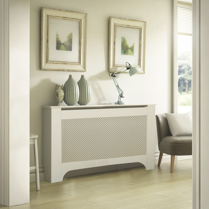 Mayfair Large White Painted Radiator Cover | Departments | DIY at B&Q