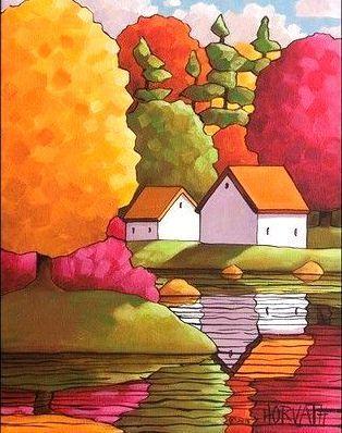 bellasecretgarden:(via Cathy Horvath Buchanan | Tableaux colores | Pinterest)