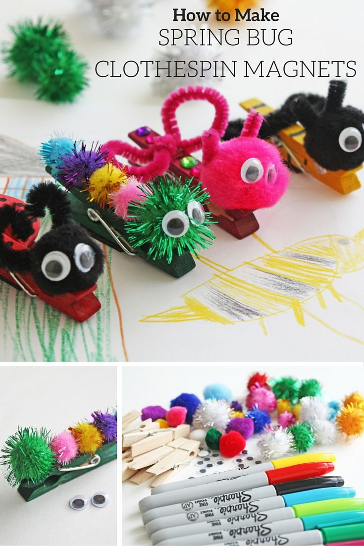 Buy magnets for crafts - Spring Bug Clothespin Magnets
