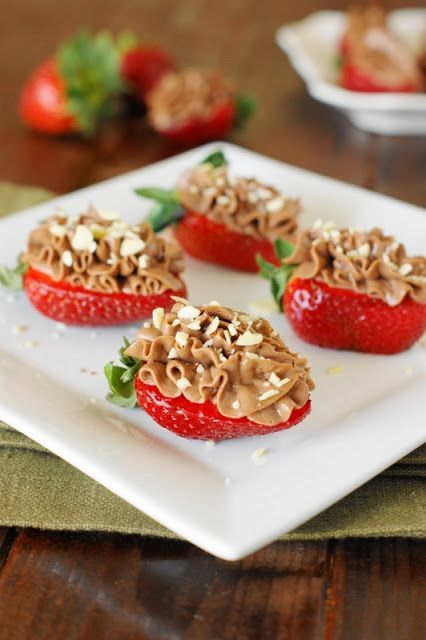 Nutella-Strawberry Cheesecake Bites for potlucks or parties