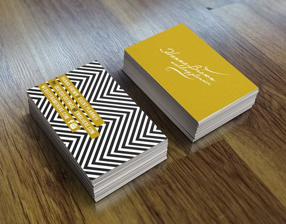 Vintage gold double sided business card - Instant download