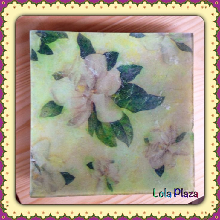 Plato decorado flor