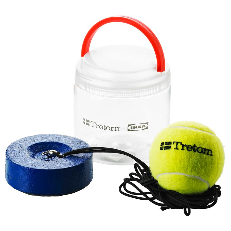 SOLUR Tennis trainer - IKEA The long elastic band follows the ball freely and doesn't tangle because it's connected to a rotating fitting at the base.