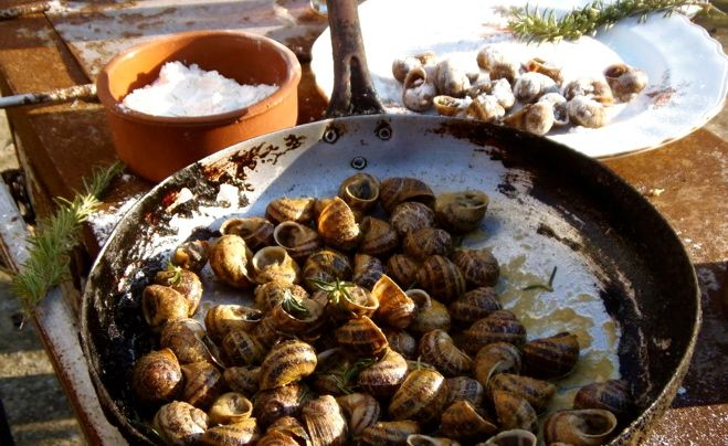 Cretan Snails - and not just snails. This is really about olive oil, my favorite food (snails are a close second, however).