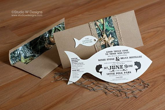 Fishing & Hunting Themed Invitation by StudioWDesigns on Etsy, $6.75 @Sam Bednarek