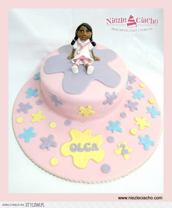 Dziewczynka, laleczka, tort z dziewczynką, tort dla dziewczynki, torty dla dzieci, tort urodzinowy