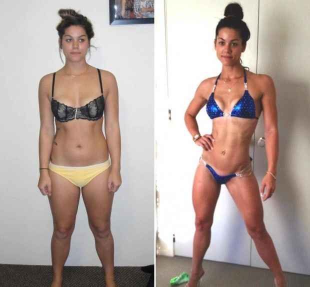 female body transformation weight loss