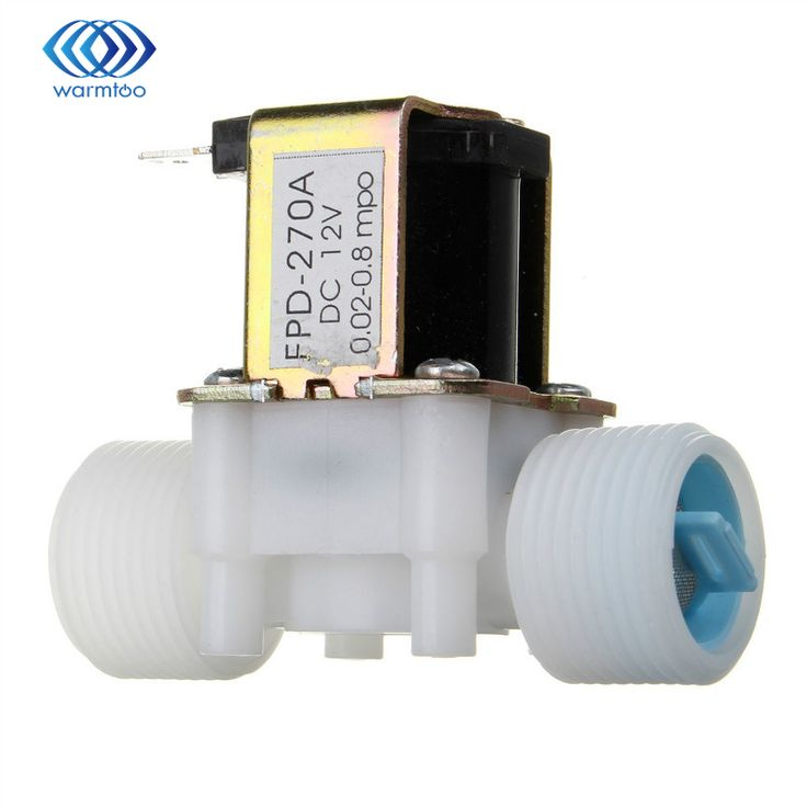 """12V  Plastic Electric Water Solenoid Valve DC 3/4"""" N/C Normally Closed Inlet Flow Control Water Filters"""