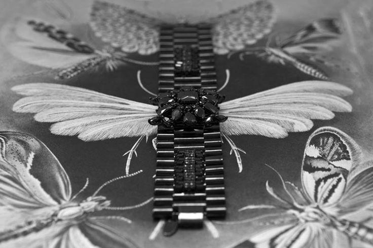 ✿ DREAMING OF A BLACK AND WHITE SPRINGTIME ✿ Black on Black Memento #bracelet