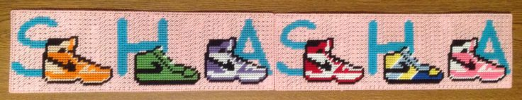 Cross Stitch Nike Sneakers in name (SHA-SHA) by Marcelle Powell
