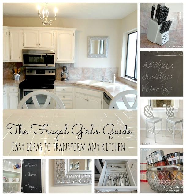 Great tips for updating any kitchen on a budget!