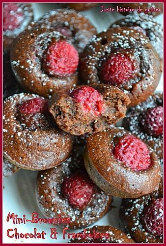 Mini-brownies Chocolat-Framboises