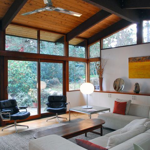 Vaulted Ceiling Midcentury Modern Design Ideas Pictures