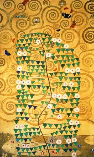 Titre de l'image : Gustav Klimt - L'arbre de Vie (Stoclet Frieze)