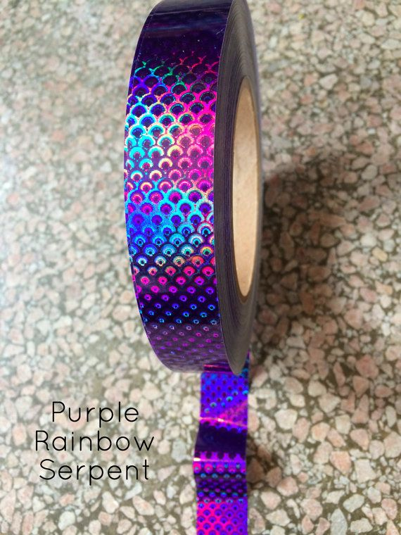 Purple Serpent Rainbow Intense Tape Rolls - Best Quality Adhesive Decorative Tape for Hula Hoops Crafting Decorating at various lengths