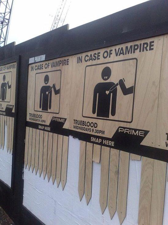 True Blood TV series billboard
