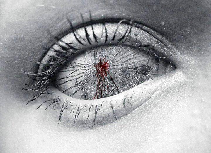 White eye - glass