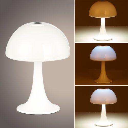 Mushroom Desktop Lamp Touch Sensor Rechargeable Eye-care Book Light   | eBay