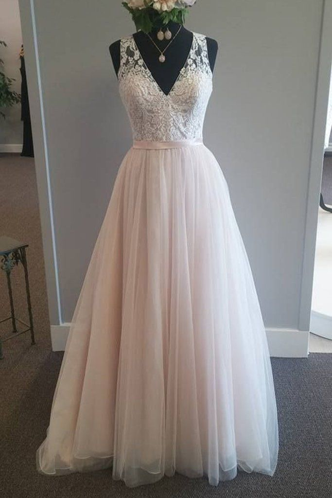 A Line Lace And Tulle Wedding Dresses From Onlyforbrides