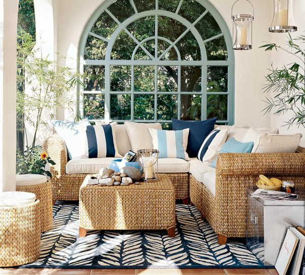 Wicker! I am obsessed with wicker furniture either for a covered outdoor area or a sun room.