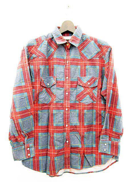 アングリッド UNGRID ネルシャツ 長袖 チェック F 赤 レッド レディース 141-201702210402 | ブランド古着通販ベクトルパーク