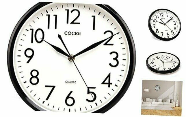 Cockii 10 Inch Silent Wall Clock Non Ticking Quartz Decorative Clock 3d Numbers Ebay In 2020 Wall Clock Clock Decor Clock