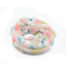 Køb dette flotte tørklæde fra Lemon Drop i hvid med stjerner på