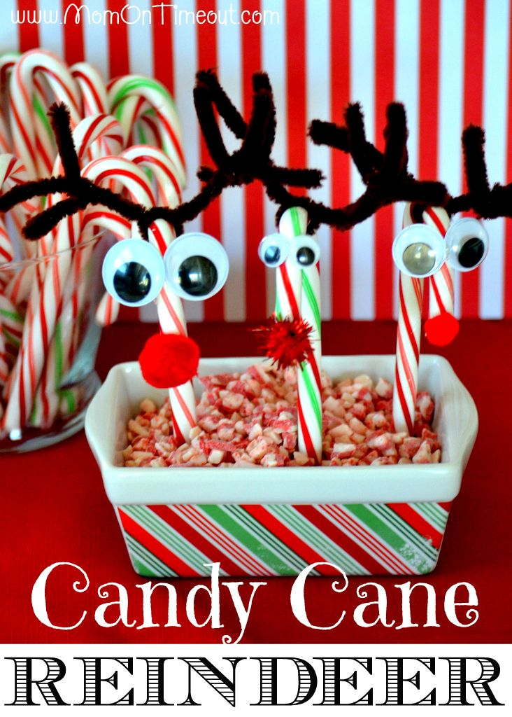 17 Christmas Recipes: Christmas Crafts Activities, Candy Canes, Candy Cane Crafts, Crafts Christmas, Easy Christmas Crafts, Holiday Crafts, Candy Cane Reindeer, Christmas Ideas, Christmas Crafts For Kids