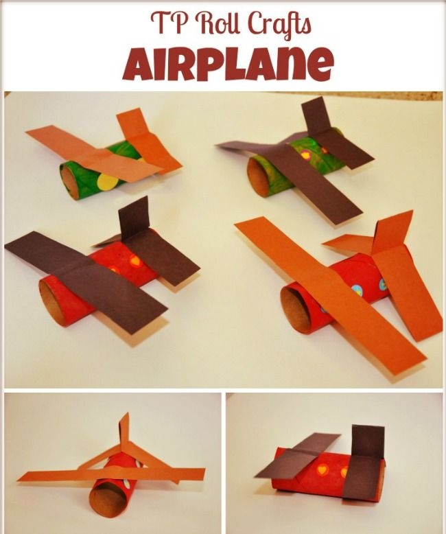 Paper roll airplanes for transportation unit.. Very easy to make..