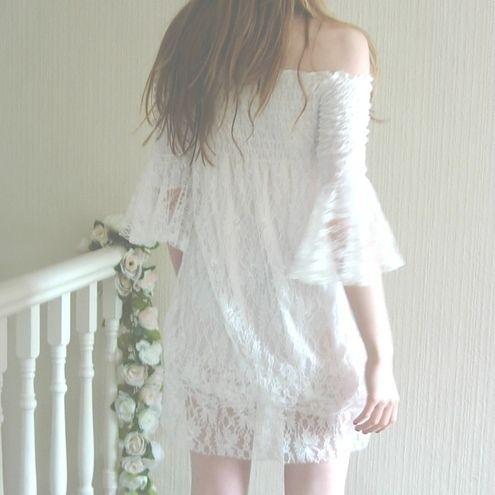 Shirred Lace Dress SAMPLE SALE
