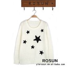 High quality angora women v-neck intarsia star pullover sweater Best Buy follow this link http://shopingayo.space