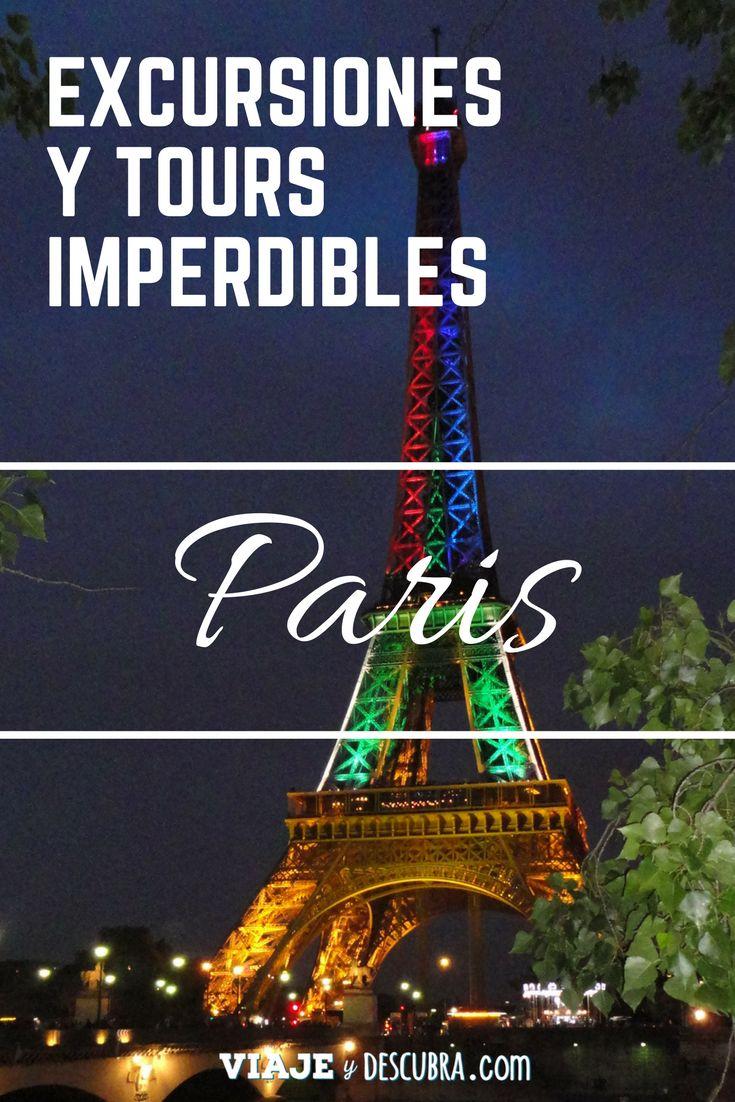 Excursiones y Tours imperdibles en París. Links para comprar tus tickets online y evitar colas! http://www.weplann.com/viajeydescubra/paris