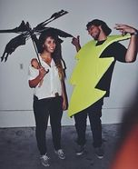 Coolest couples Halloween costumes - Struck With Lightning Homemade Costume