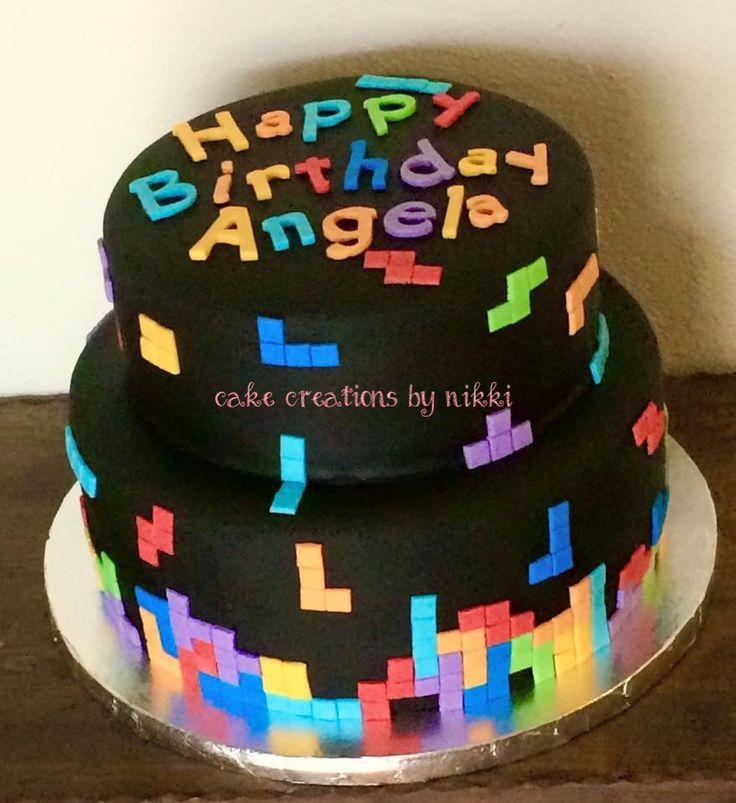 Best Cakes Ive Made Images On Pinterest Cake Little - Tetris birthday cake