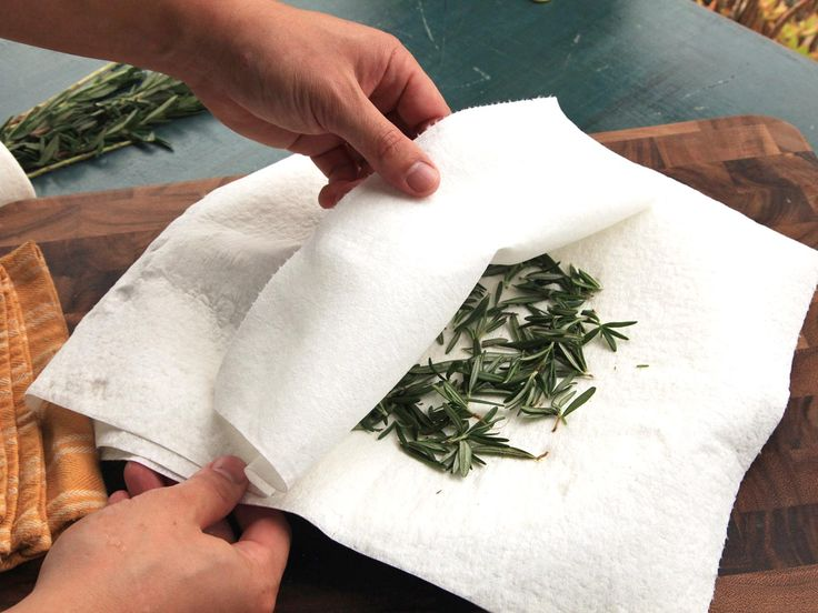 Drying herbs in the microwave is easy, fast, and preserves flavor better than other methods.