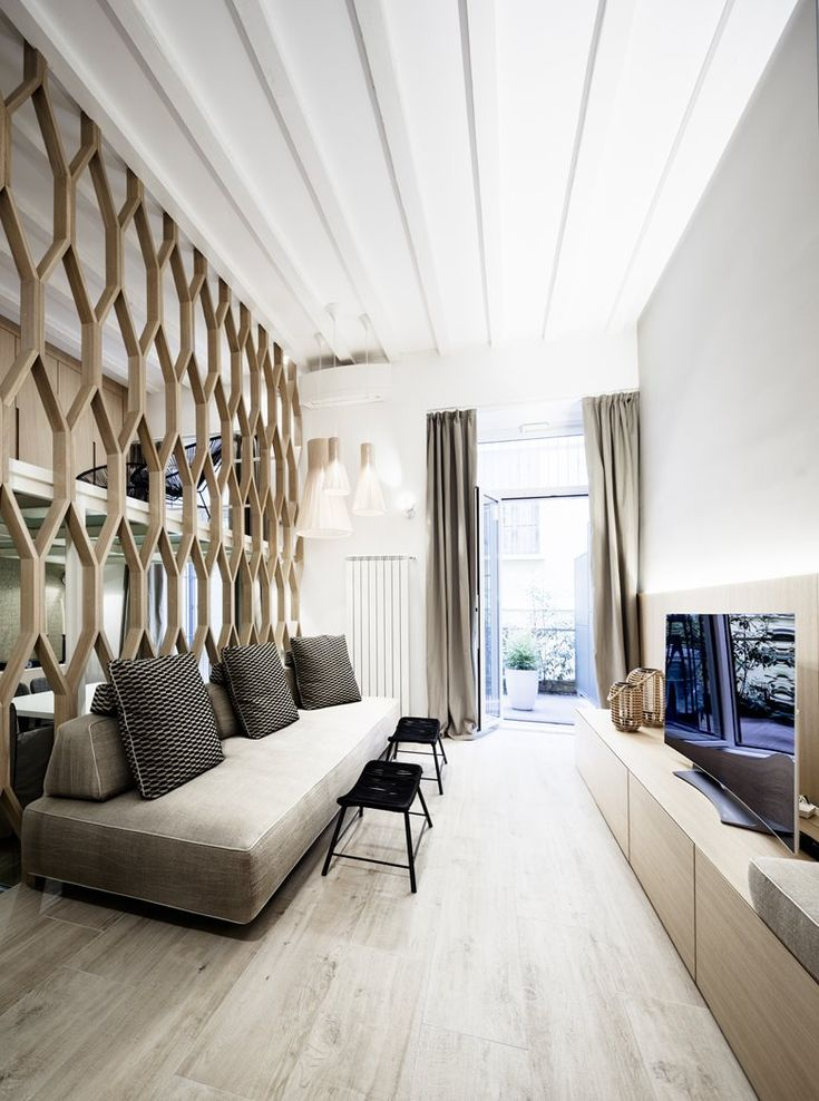 Appartamento Milazzo | Archiplan #timber #partition #livingroom