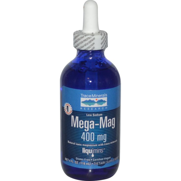Trace Minerals Research, Mega-Mag, Natural Ionic Magnesium with Trace Minerals, 400 mg, 4 fl oz (118 ml) - iHerb.com