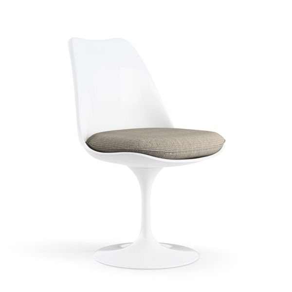 Silla Tulip Chair - Knoll - CARCASA BLANCA ASIENTO TEJIDO CATO SAND https://emfurn.com/collections/dining-chairs
