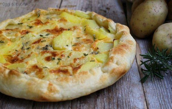 Torta salata di patate e brie | Oggi si cucina