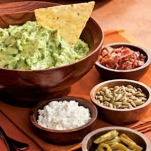 Healthy recipes for guacamole, layered bean dip, salsa and more zesty chip and dip recipes.